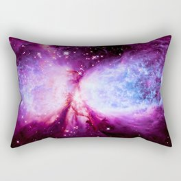 Space Galaxy : A Star is Born Pink Purple Periwinkle Rectangular Pillow