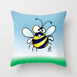 Bumbling Bee Throw Pillow
