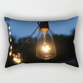 Late Night Lights Rectangular Pillow