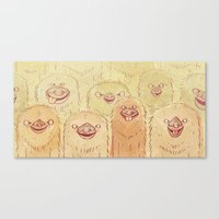 sloths Canvas Prints featuring Sloths by Campnath