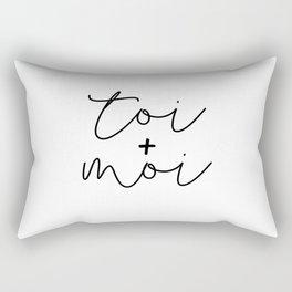 Toi + Moi Rectangular Pillow