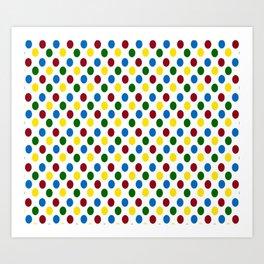 School Days Polka Dots Art Print