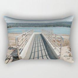 A pier at Big Bear Lake in California Rectangular Pillow