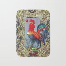 Provencal cock 2 Bath Mat