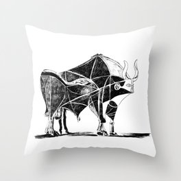 Picasso's Bull Throw Pillow