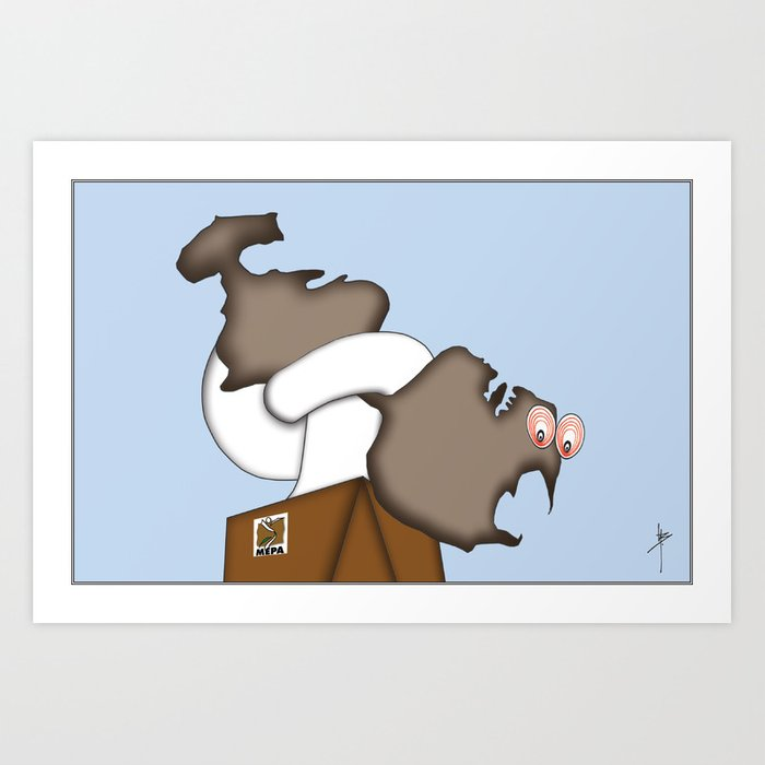 State of the Nation - Cartoon  Art Print