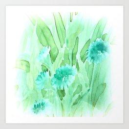Soft Watercolor Floral Art Print