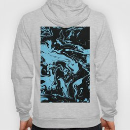 Blue and Black Swirls - abstract pattern Hoody