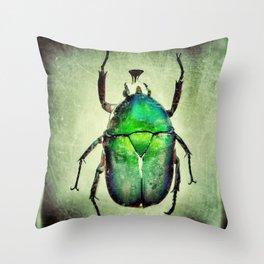 Iridescent Green Throw Pillow