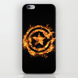The Captain on Fire iPhone Skin