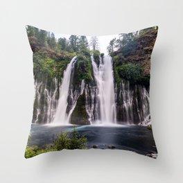 McArthur Burney Falls waterfall in California Throw Pillow
