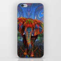 elephant iPhone & iPod Skins featuring Elephant by Waelad Akadan