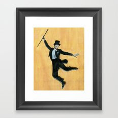 top hat and tails Framed Art Print