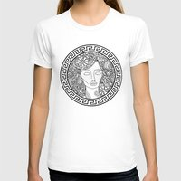 versace T-shirts featuring GREEK GODDESS by AZZURRO ARTS
