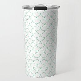 Mermaid Scales in Green Travel Mug