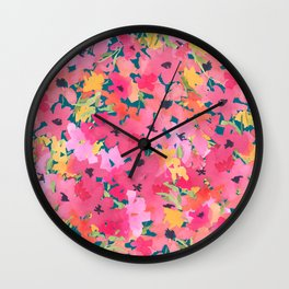 Pink and Peach Garden Wall Clock