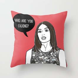 Faxing Throw Pillow