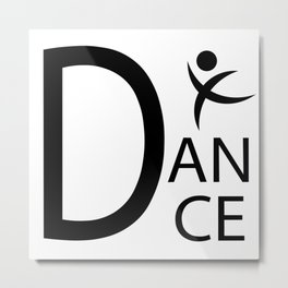 White Dance Symbol Metal Print