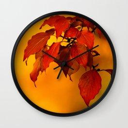 VIVID AUTUMNAL LEAVES Wall Clock
