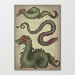 Sea Serpents Canvas Print