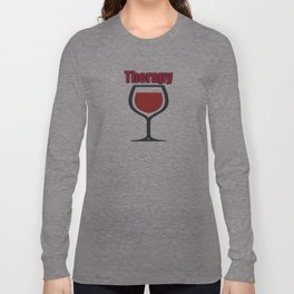 wine therapy Long Sleeve T-shirt