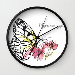 Malabar  Tree Nymph Butterfly Wall Clock