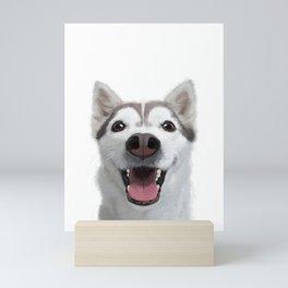 Young husky Mini Art Print