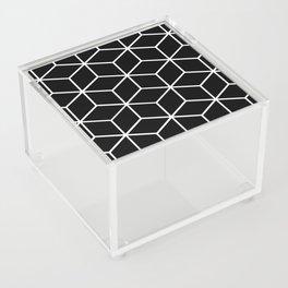 Black and White - Geometric Cube Design II Acrylic Box