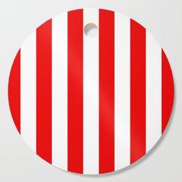 Holidaze Stripe Red White Vertical Cutting Board