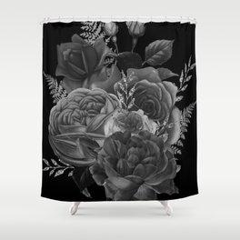 Flower Bouquet In Monochrome Art Shower Curtain