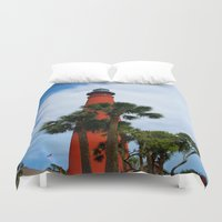 leon Duvet Covers featuring Ponce De Leon Light by Dragons Laire