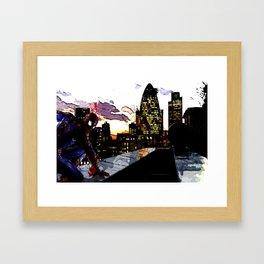 Spiderman in London Framed Art Print