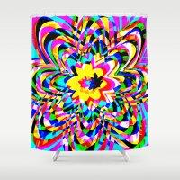 flower pattern Shower Curtains featuring Flower Pattern by Rojerk