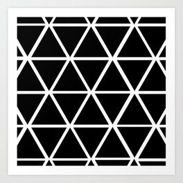 BLACK & WHITE TRIANGLES 2 Art Print