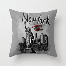 NewYork - Travel Serie Throw Pillow