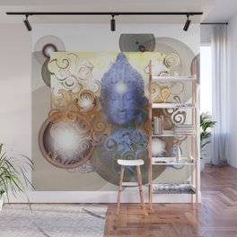 Transcendental meditation of Buddha at Home Wall Mural
