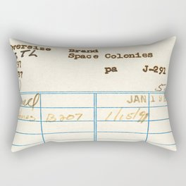 Library Card 797.B7 Rectangular Pillow