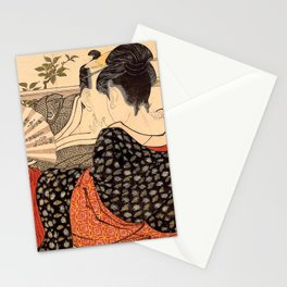 Lovers in an Upstairs Room Stationery Cards