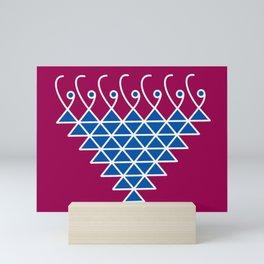 Sacred Geometry- Saraswati Yantra-2 Mini Art Print