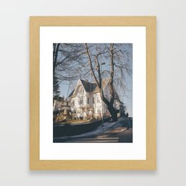 A house at the end of the world Framed Art Print