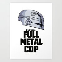 full metal alchemist Art Prints featuring Full Metal Cop by Doodle Dojo