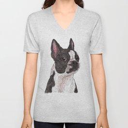 My Baby, Boston Terrier Unisex V-Neck