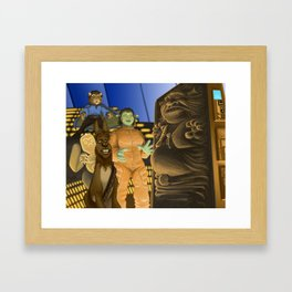 The Empire Shreks Back Framed Art Print