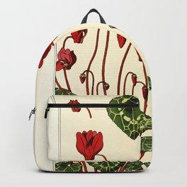 French botanical flower plate - E. Hervegh - Cyclamen Backpack