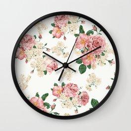 Vintage Rose Pattern Wall Clock