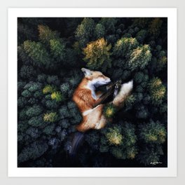 nature hugs. Art Print