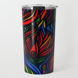 Flowers in Flame Travel Mug