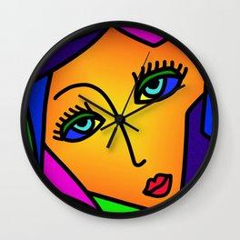Pop Art Girl Wall Clock