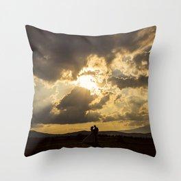 Backlit Boyfriends (Contraluz de Novios) Throw Pillow