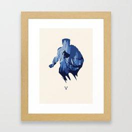 Javelin Blue Framed Art Print